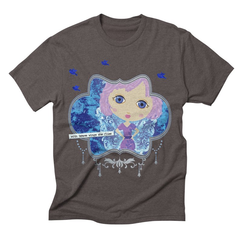 With Brave Wings She Flies Men's Triblend T-Shirt by LittleMissTyne's Artist Shop