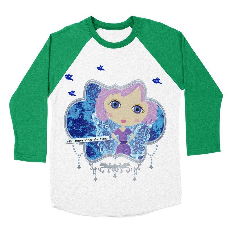 With Brave Wings She Flies Women's Baseball Triblend Longsleeve T-Shirt by LittleMissTyne's Artist Shop