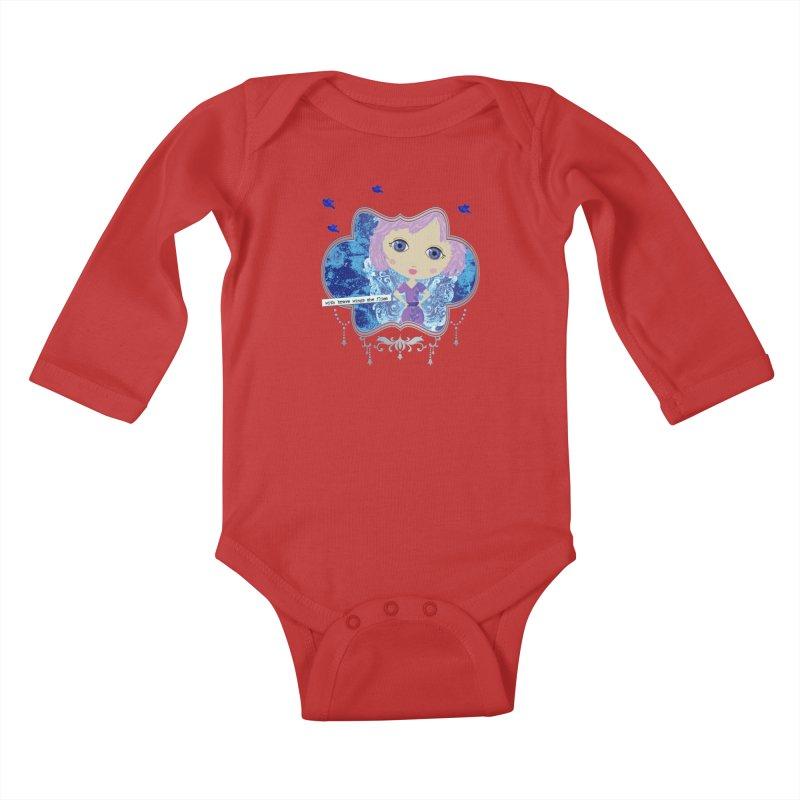 With Brave Wings She Flies Kids Baby Longsleeve Bodysuit by LittleMissTyne's Artist Shop
