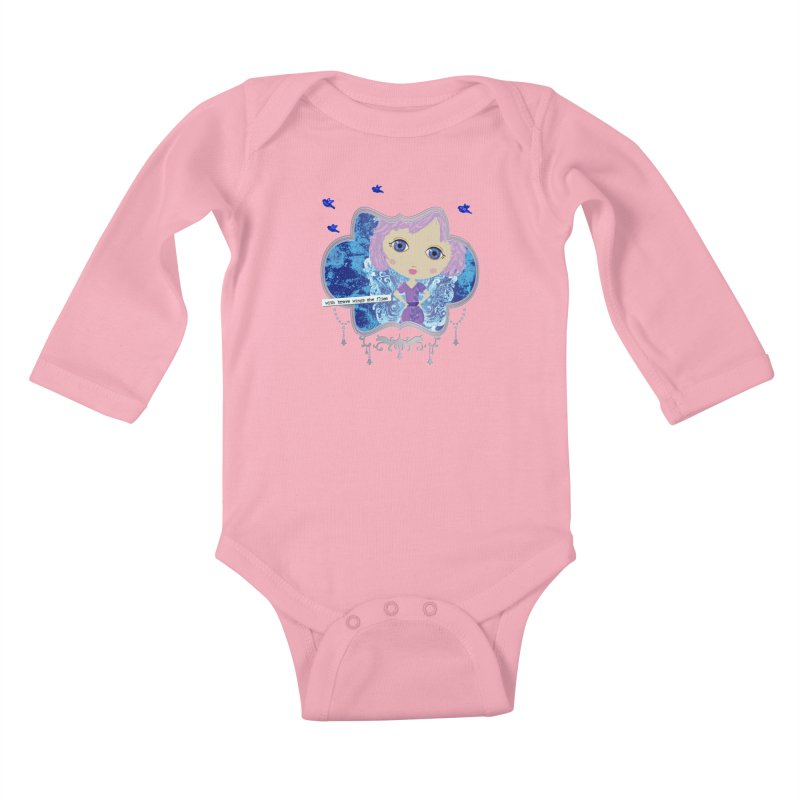 With Brave Wings She Flies Kids Baby Longsleeve Bodysuit by LittleMissTyne's Artist Shop