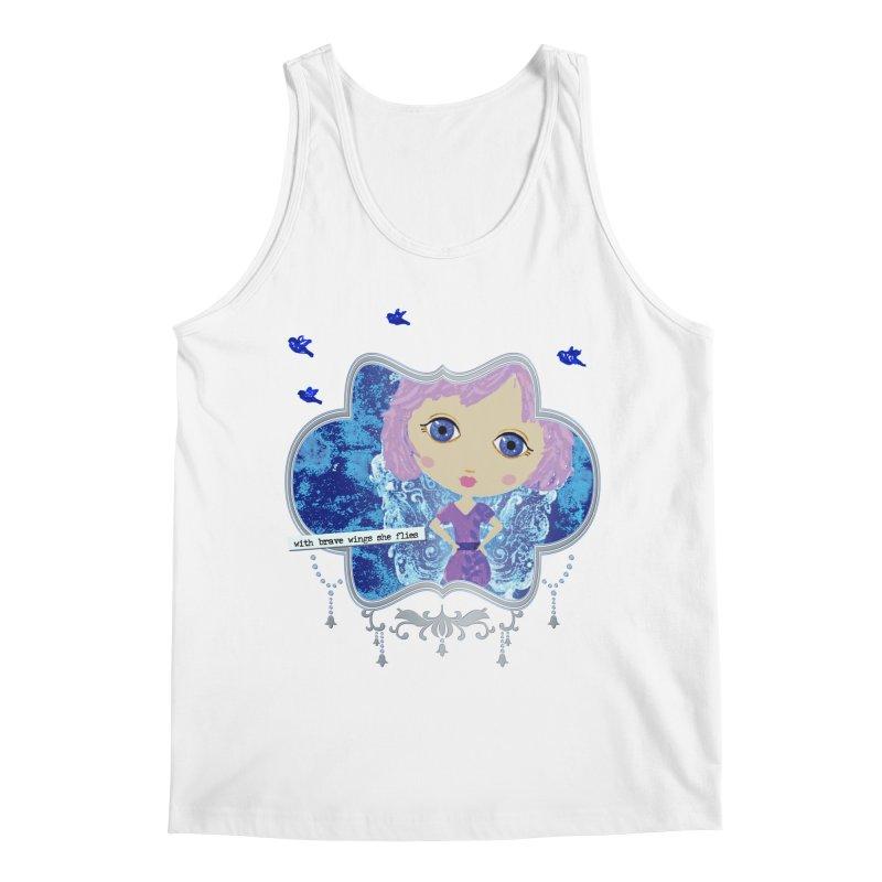 With Brave Wings She Flies Men's Tank by LittleMissTyne's Artist Shop