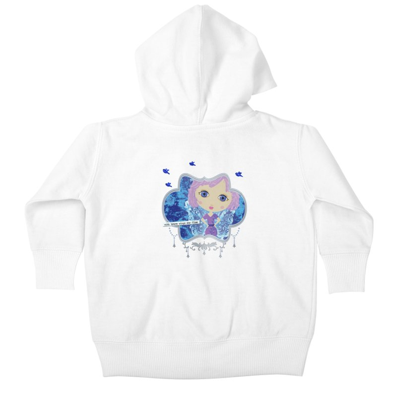 With Brave Wings She Flies Kids Baby Zip-Up Hoody by LittleMissTyne's Artist Shop