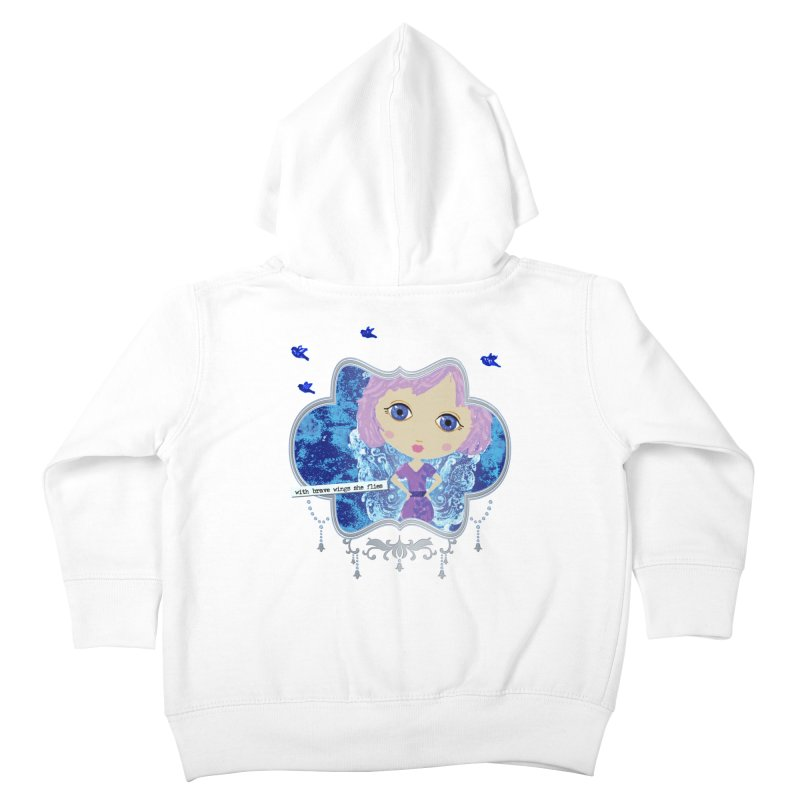 With Brave Wings She Flies Kids Toddler Zip-Up Hoody by LittleMissTyne's Artist Shop