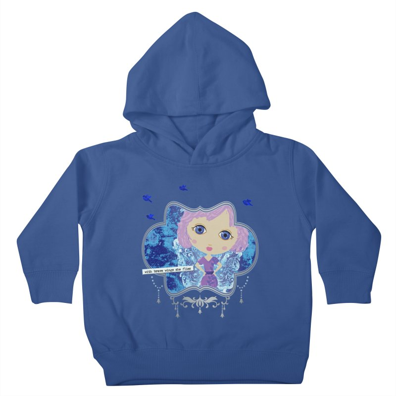 With Brave Wings She Flies Kids Toddler Pullover Hoody by LittleMissTyne's Artist Shop