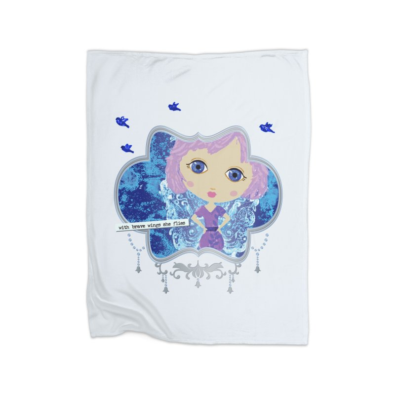 With Brave Wings She Flies Home Blanket by LittleMissTyne's Artist Shop