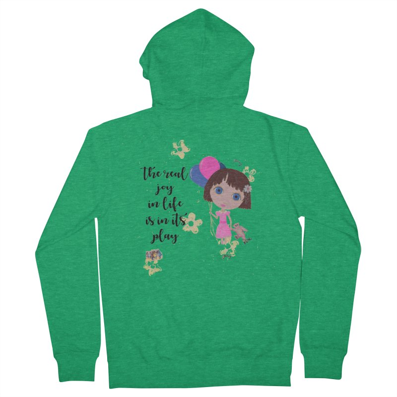 The Real Joy In Life Men's Zip-Up Hoody by LittleMissTyne's Artist Shop