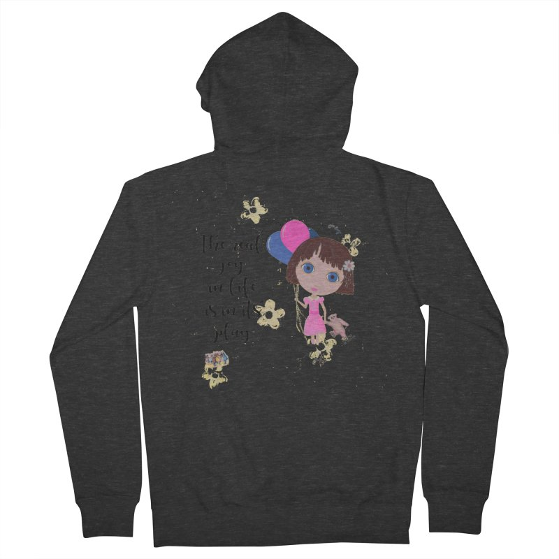 The Real Joy In Life Men's French Terry Zip-Up Hoody by LittleMissTyne's Artist Shop