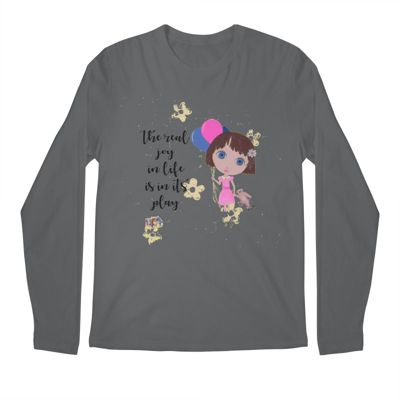 The Real Joy In Life Men's Longsleeve T-Shirt by LittleMissTyne's Artist Shop