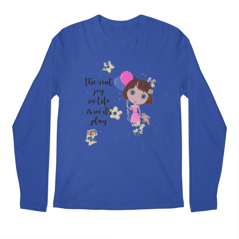 The Real Joy In Life Men's Longsleeve T-Shirt by LittleMissTyne's Artist Shop
