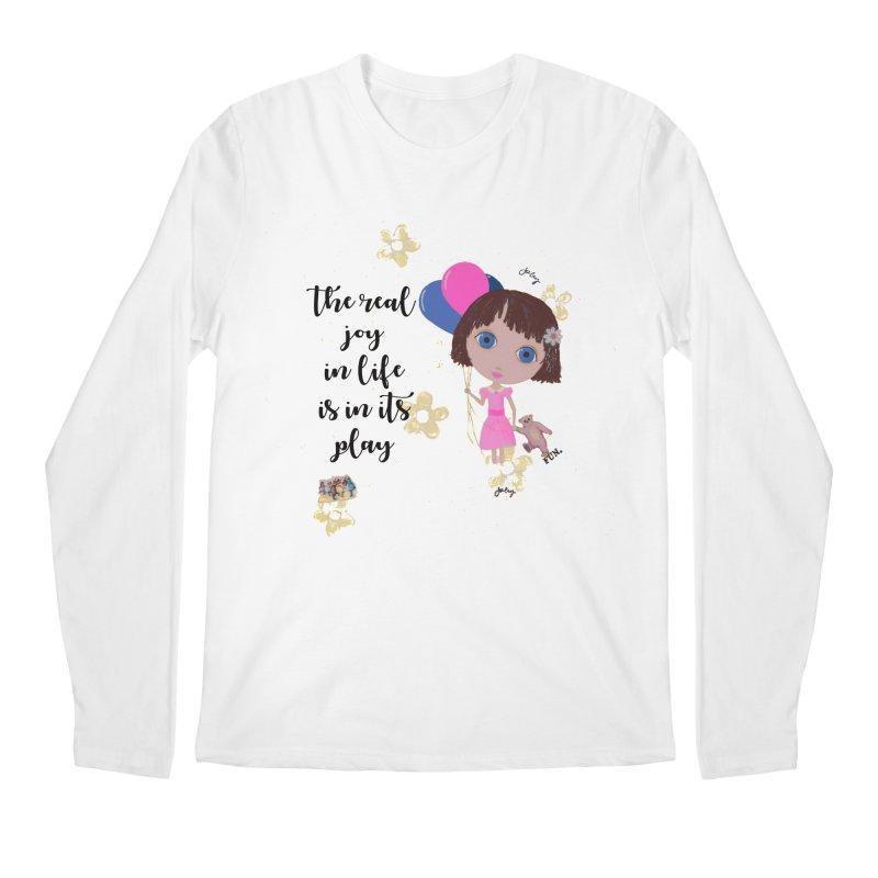 The Real Joy In Life Men's Regular Longsleeve T-Shirt by LittleMissTyne's Artist Shop
