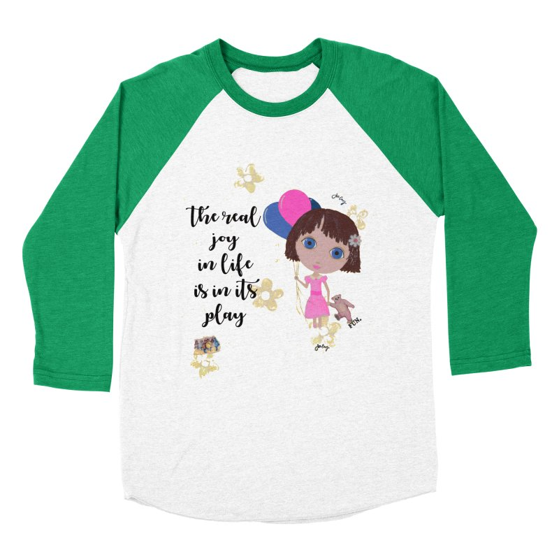 The Real Joy In Life Women's Baseball Triblend Longsleeve T-Shirt by LittleMissTyne's Artist Shop
