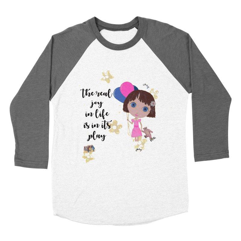 The Real Joy In Life Men's Baseball Triblend Longsleeve T-Shirt by LittleMissTyne's Artist Shop
