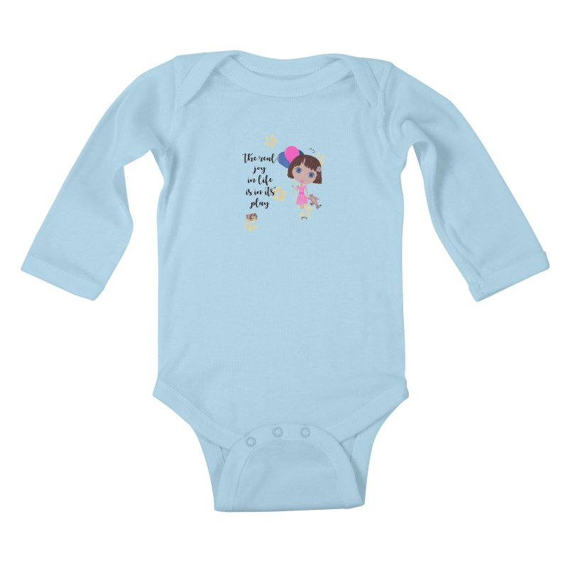 The Real Joy In Life Kids Baby Longsleeve Bodysuit by LittleMissTyne's Artist Shop