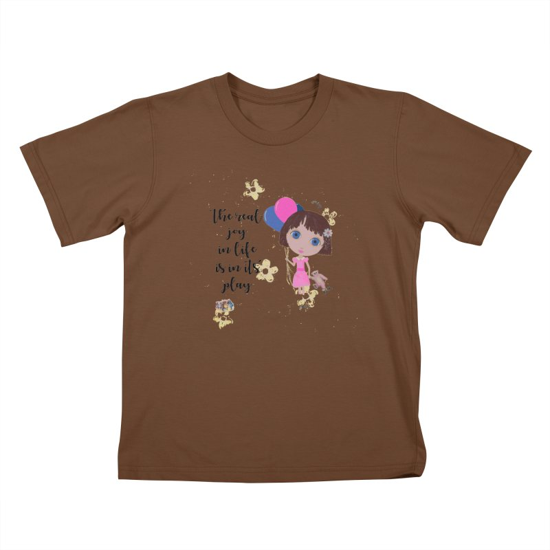 The Real Joy In Life Kids T-Shirt by LittleMissTyne's Artist Shop
