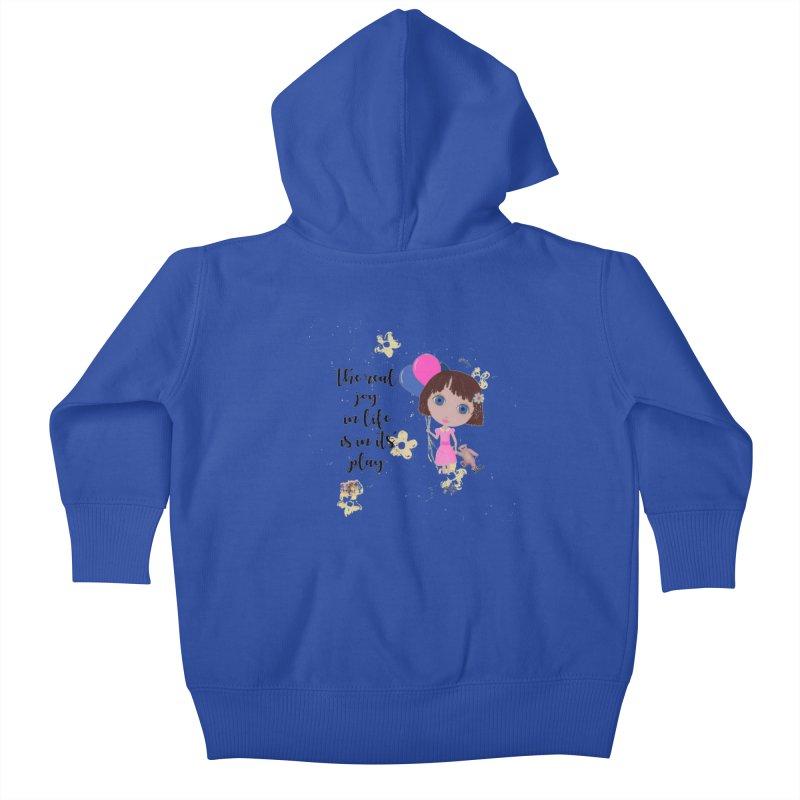 The Real Joy In Life Kids Baby Zip-Up Hoody by LittleMissTyne's Artist Shop