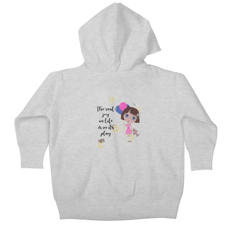 The Real Joy In Life Kids Baby Zip-Up Hoody by LittleMissTyne's Artist Shop