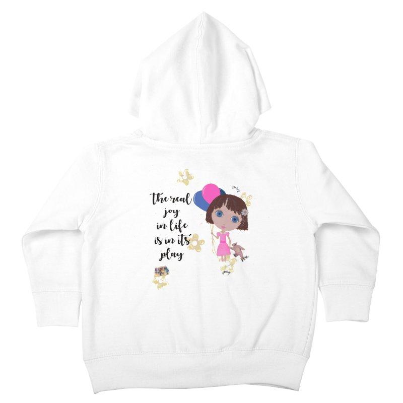 The Real Joy In Life Kids Toddler Zip-Up Hoody by LittleMissTyne's Artist Shop
