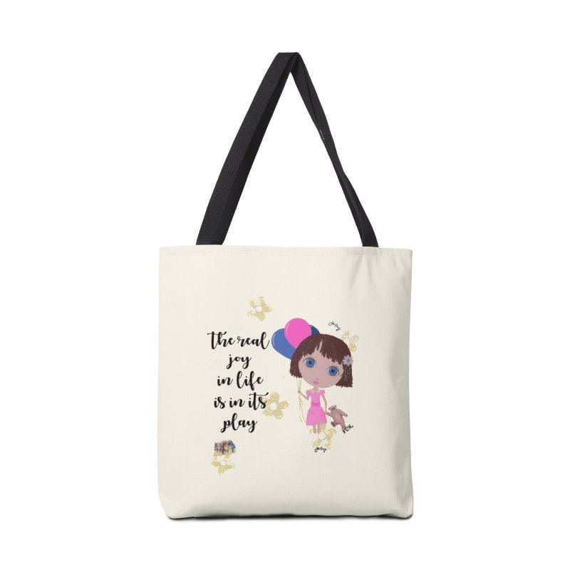The Real Joy In Life Accessories Tote Bag Bag by LittleMissTyne's Artist Shop