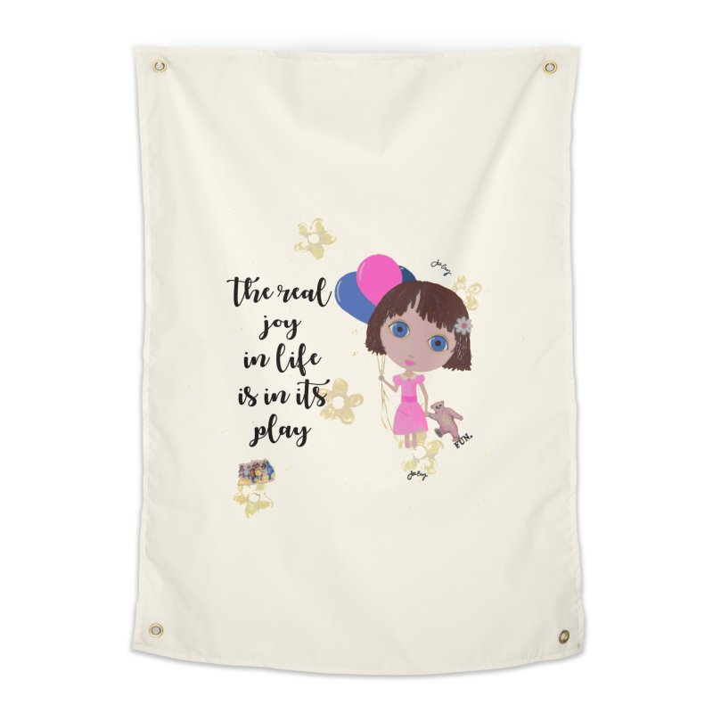 The Real Joy In Life Home Tapestry by LittleMissTyne's Artist Shop