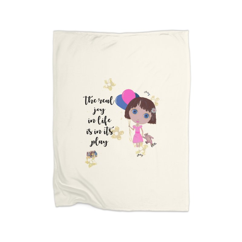 The Real Joy In Life Home Fleece Blanket Blanket by LittleMissTyne's Artist Shop