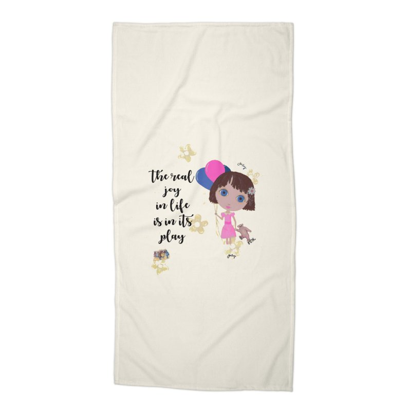 The Real Joy In Life Accessories Beach Towel by LittleMissTyne's Artist Shop