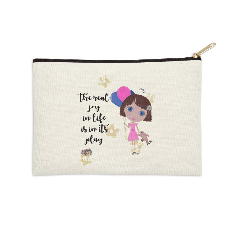 The Real Joy In Life Accessories Zip Pouch by LittleMissTyne's Artist Shop