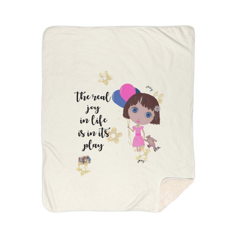 The Real Joy In Life Home Sherpa Blanket Blanket by LittleMissTyne's Artist Shop