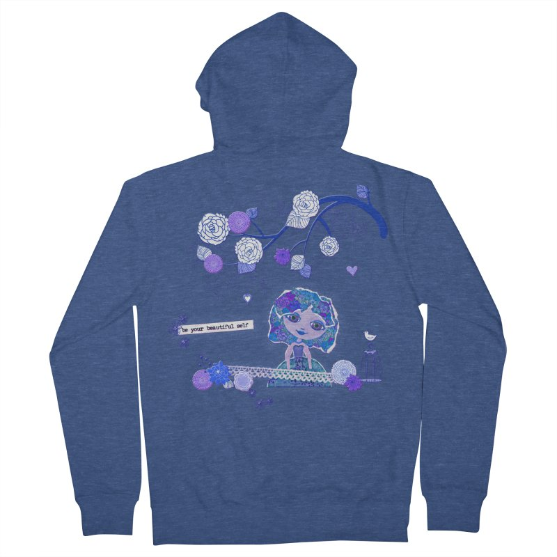 You Are Beautiful Women's French Terry Zip-Up Hoody by LittleMissTyne's Artist Shop