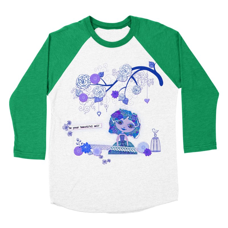 You Are Beautiful Women's Baseball Triblend Longsleeve T-Shirt by LittleMissTyne's Artist Shop
