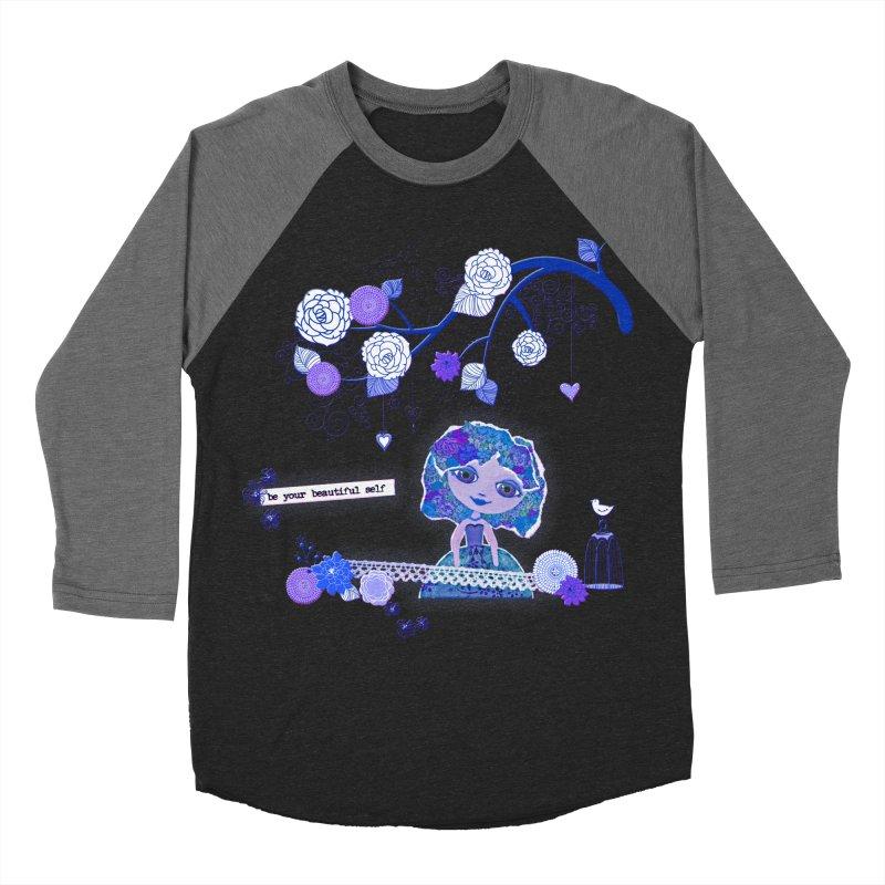 You Are Beautiful Men's Baseball Triblend Longsleeve T-Shirt by LittleMissTyne's Artist Shop