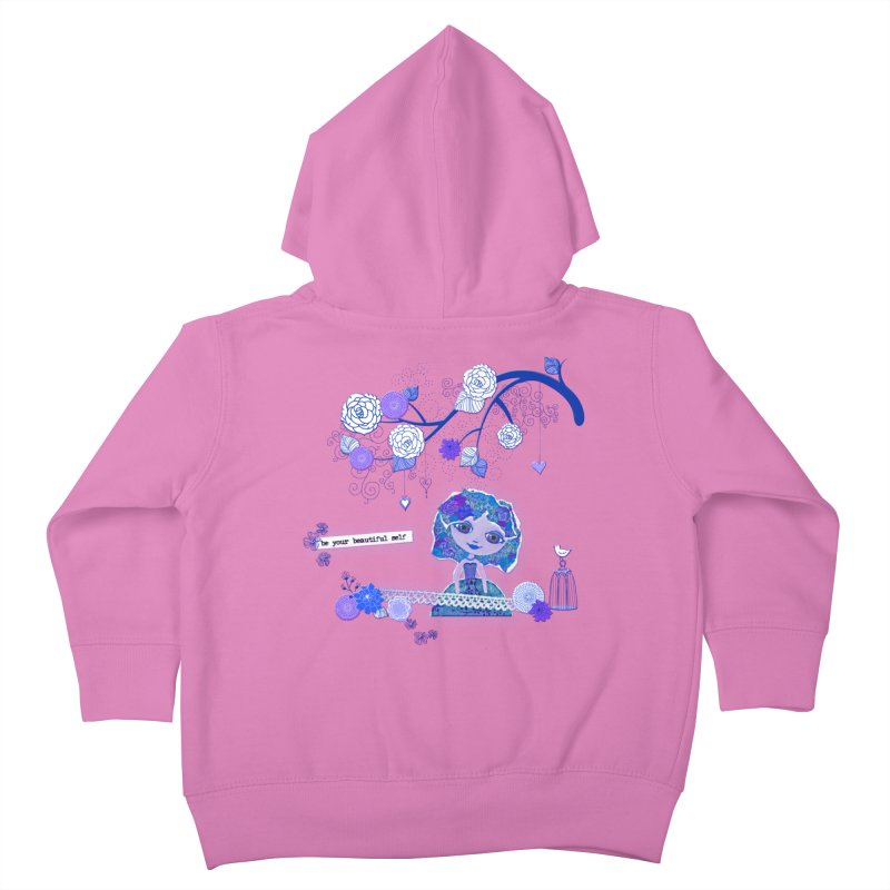 You Are Beautiful Kids Toddler Zip-Up Hoody by LittleMissTyne's Artist Shop