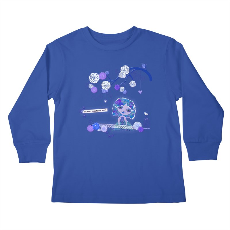 You Are Beautiful Kids Longsleeve T-Shirt by LittleMissTyne's Artist Shop