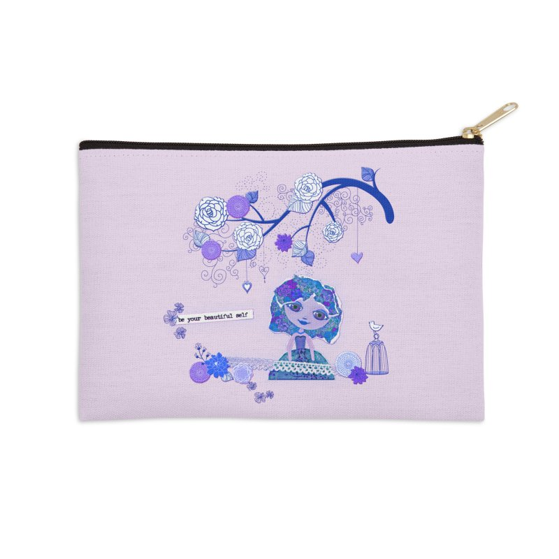 You Are Beautiful Accessories Zip Pouch by LittleMissTyne's Artist Shop