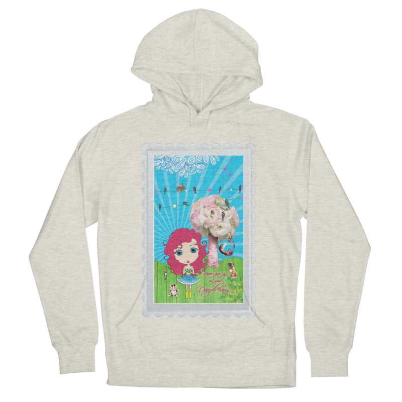 Daydreams Really Do Come True - Dark Haired Version Women's French Terry Pullover Hoody by LittleMissTyne's Artist Shop