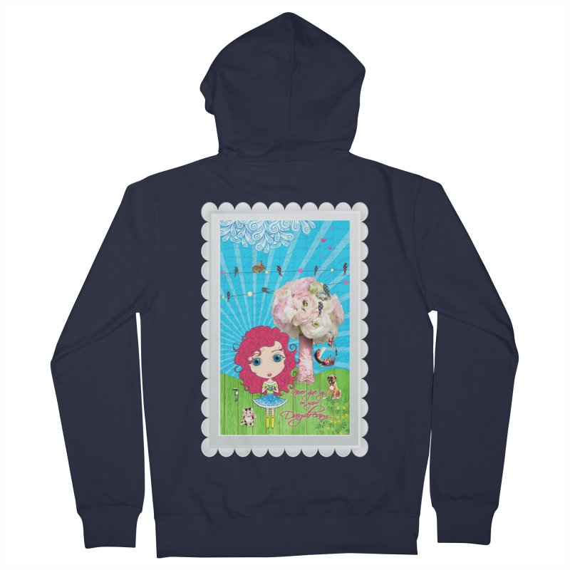 Daydreams Really Do Come True - Dark Haired Version Women's French Terry Zip-Up Hoody by LittleMissTyne's Artist Shop