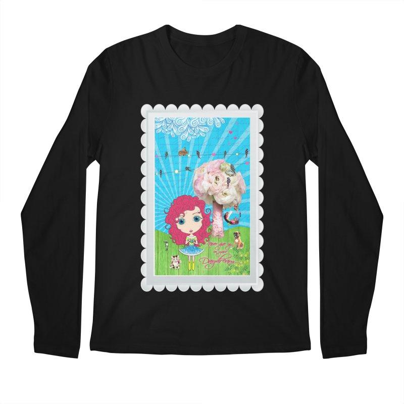 Daydreams Really Do Come True - Dark Haired Version Men's Regular Longsleeve T-Shirt by LittleMissTyne's Artist Shop