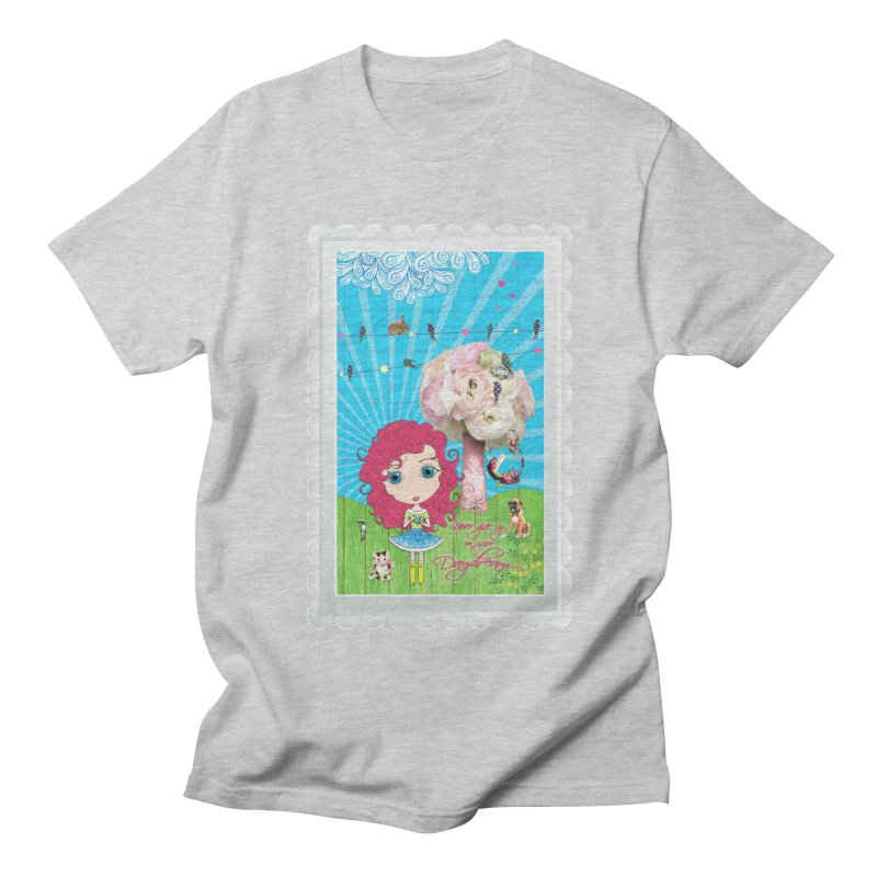 Daydreams Really Do Come True - Dark Haired Version Men's T-Shirt by Little Miss Tyne's Artist Shop