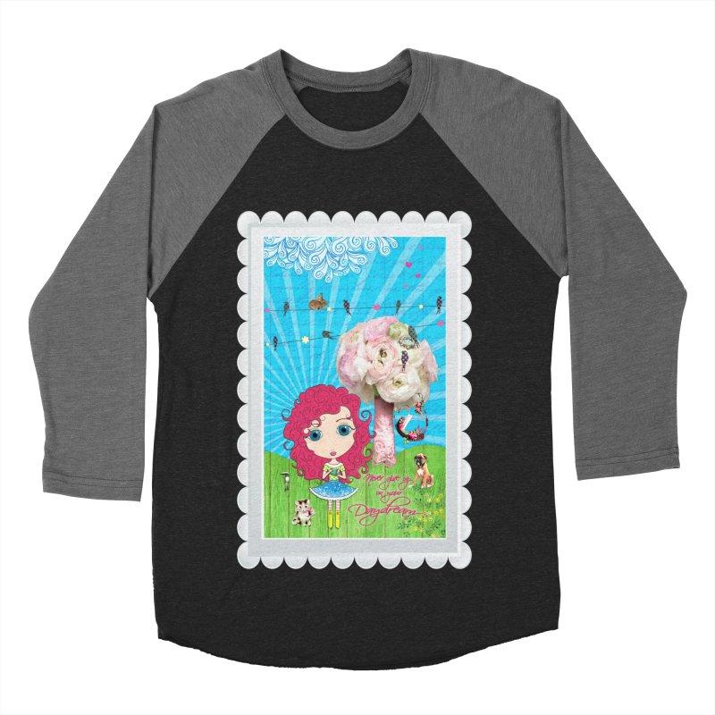 Daydreams Really Do Come True - Dark Haired Version Men's Baseball Triblend Longsleeve T-Shirt by LittleMissTyne's Artist Shop