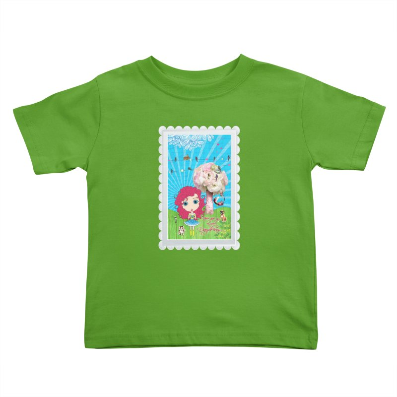 Daydreams Really Do Come True - Dark Haired Version Kids Toddler T-Shirt by LittleMissTyne's Artist Shop