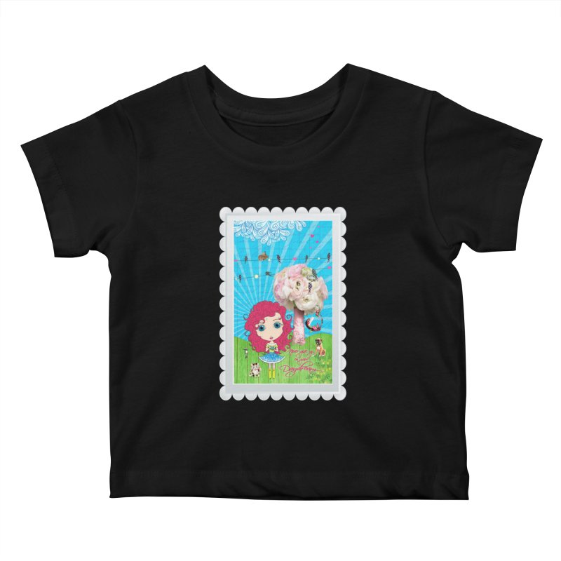 Daydreams Really Do Come True - Dark Haired Version Kids Baby T-Shirt by LittleMissTyne's Artist Shop