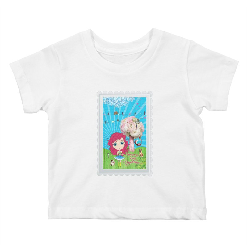 Daydreams Really Do Come True - Dark Haired Version Kids Baby T-Shirt by LittleMissTyne's Artist Shop