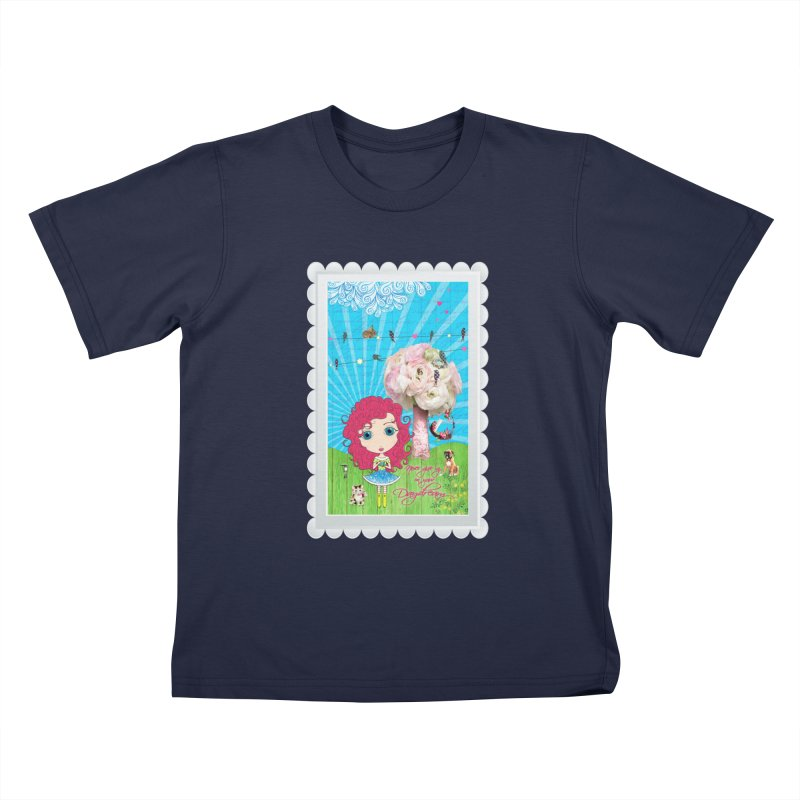 Daydreams Really Do Come True - Dark Haired Version Kids T-Shirt by Little Miss Tyne's Artist Shop