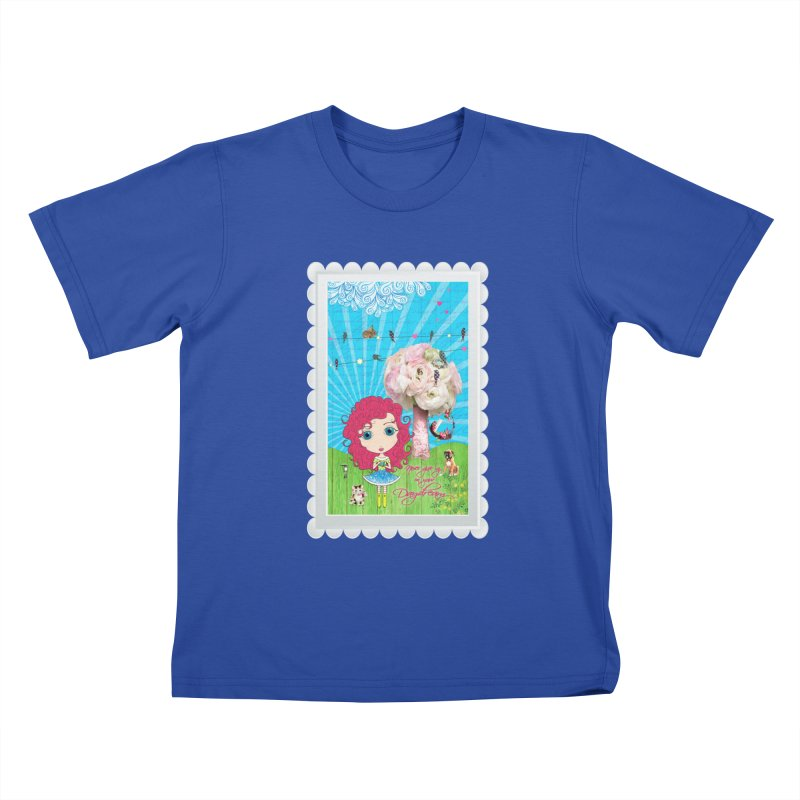 Daydreams Really Do Come True - Dark Haired Version Kids T-Shirt by LittleMissTyne's Artist Shop