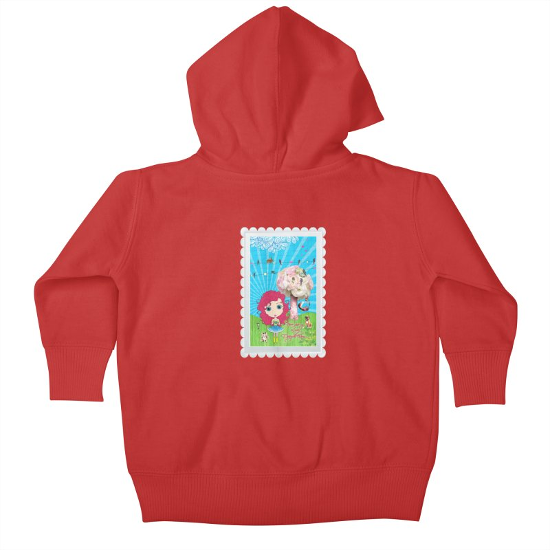 Daydreams Really Do Come True - Dark Haired Version Kids Baby Zip-Up Hoody by LittleMissTyne's Artist Shop