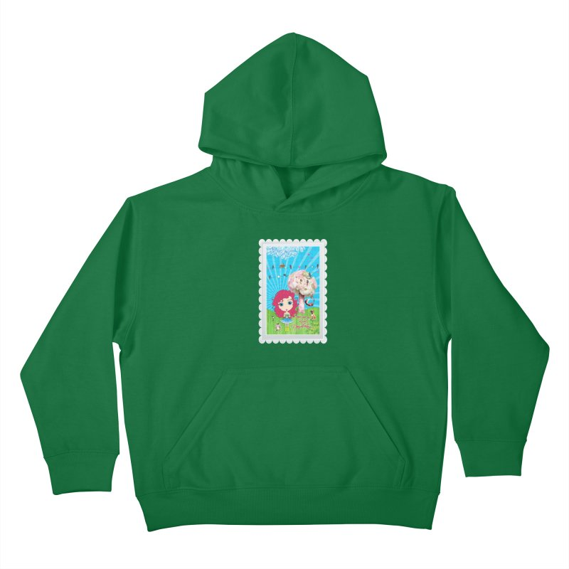 Daydreams Really Do Come True - Dark Haired Version Kids Pullover Hoody by LittleMissTyne's Artist Shop