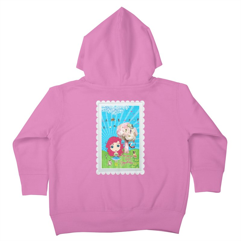 Daydreams Really Do Come True - Dark Haired Version Kids Toddler Zip-Up Hoody by LittleMissTyne's Artist Shop