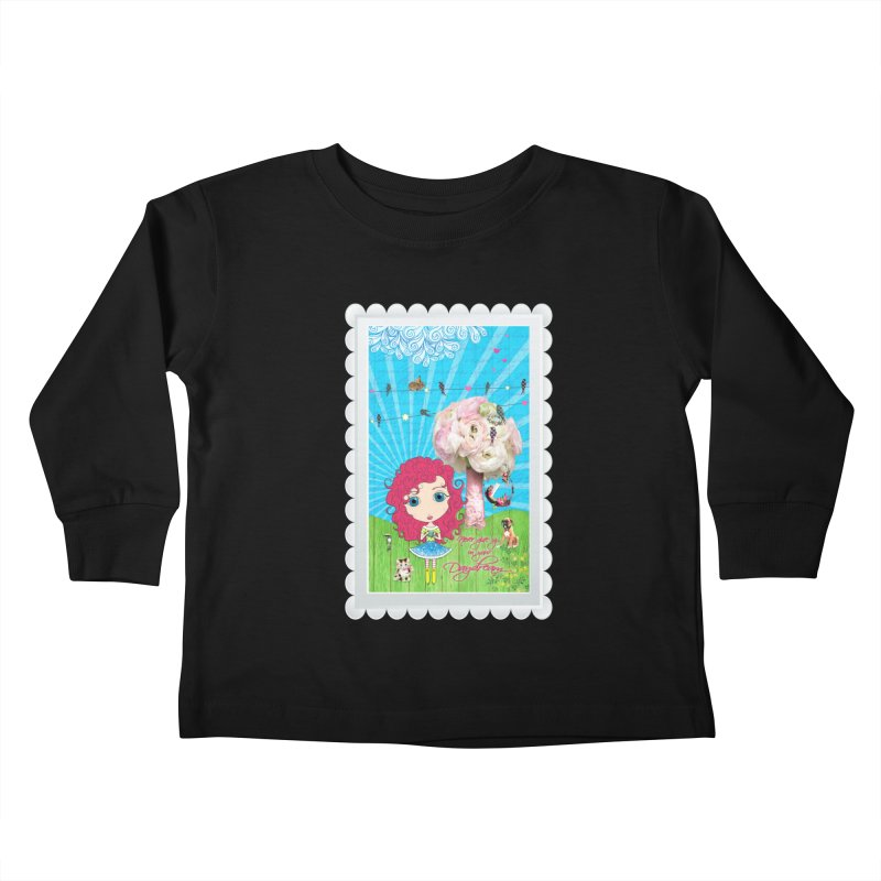 Daydreams Really Do Come True - Dark Haired Version Kids Toddler Longsleeve T-Shirt by LittleMissTyne's Artist Shop