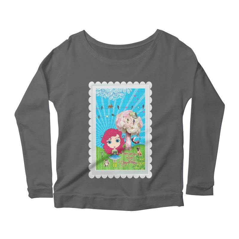 Daydreams Really Do Come True - Dark Haired Version Women's Longsleeve T-Shirt by LittleMissTyne's Artist Shop