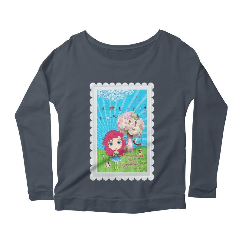 Daydreams Really Do Come True - Dark Haired Version Women's Scoop Neck Longsleeve T-Shirt by LittleMissTyne's Artist Shop