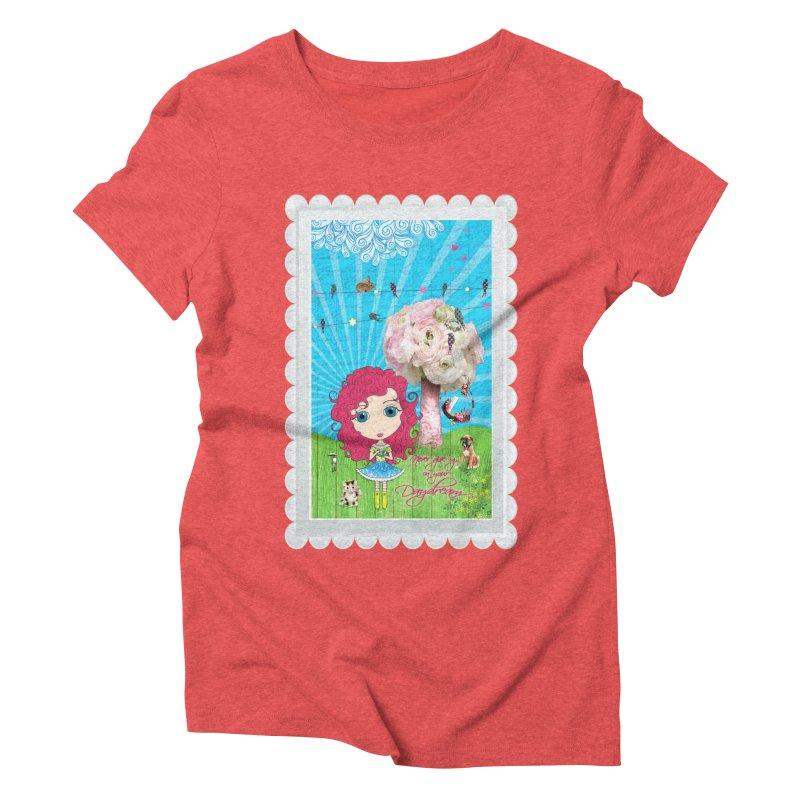 Daydreams Really Do Come True - Dark Haired Version Women's Triblend T-Shirt by LittleMissTyne's Artist Shop